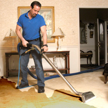 Remove water from carpet